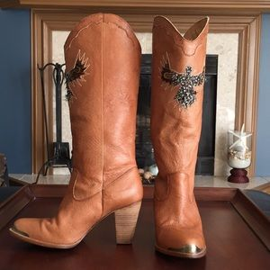 Sam Edelman RARE Feather Eagle Western Boots